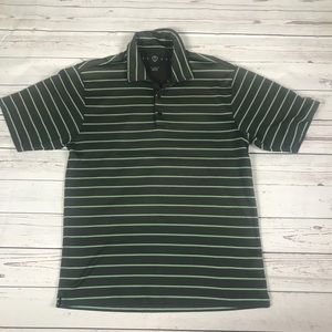 Nike Golf striped polo Sz M FitDry loose fit men